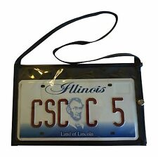 Vinyl Dealer License Plate Holder with Straps test drive magnet magnetic tag
