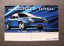 [GCG] L411- Advertising Pubblicità - FIAT COUPE' 220 CV , CRESCENDO DI POTENZA