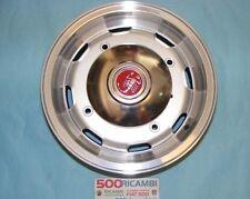 FIAT 500 F/L/R 4 CERCHI IN LEGA 4,5x12 SILVER BORDO CROMATO 4X190 + COPPE ABARTH