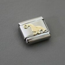 SEAL-AUTHENTIC Nomination Bracelet Charm-Stainless Steel w/18k gold