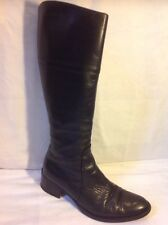 Vera Gomma Black Knee High Leather Boots Size 37