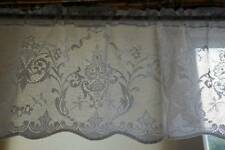 Victorian Design cotton lace window valance cafe curtain Lucinda brise-bise 12""