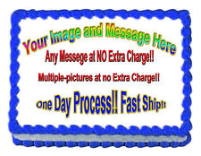 "Your Personalized PHOTO/PICTURE edible cake image cake topper7.5""x10""max"