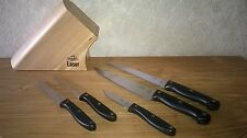 RICHARDSON Sheffield *NEW* Bloc 5 couteaux Laser Kitchen knives