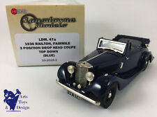 1/43 BROOKLIN LANSDOWNE 47A RAILTON FAIRMILE DROP HEAD COUPE TOP DOWN BLUE 1936