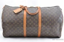 Authentic Louis Vuitton Monogram Keepall 60 Boston Bag M41422 LV 29749