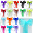 Wedding Chair Cover Sashes Organza Bows Sash Party Decoration Banquet Reception