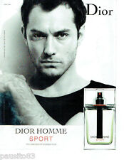 PUBLICITE ADVERTISING 115  2009  DIOR  Homme Sport pardum JUDE LAW