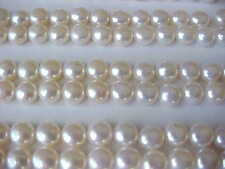 20 PCS OF 6MM - 6.5MM AAA GENUINE BUTTON WHITE FRESHWATER PEARLS LOOSE