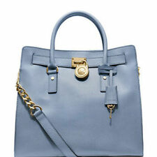 Michael Kors Bag 30S2GHMT3L MK Hamilton Large Leather NS Tote Cornflower Agsbeag