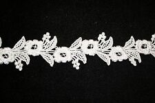 "Ivory Floral Venise Lace Trim -  10 yds for $15.99 - 1 1/2"" Wide"