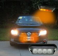 4 LED Car Truck Amber Light Emergency Beacon Light Bar Hazard Strobe Warning