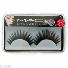Black 15mm Fake False Eyelashes Lashes Extensions Party Halloween Costume MIB