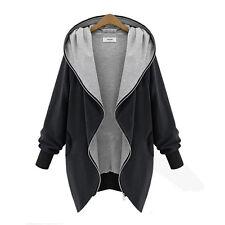 Women Oversize Zip UP Jacket Long Coat Hoodie Cardigan Blazer Outwear Overcoat