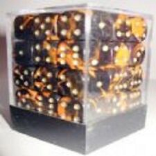 PACK OF 36 OBLIVION ORANGE DICE- 6 SIDED & 12mm SIDES!!