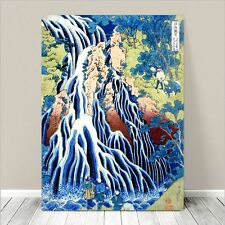 "Beautiful Japanese Art ~ CANVAS PRINT 16x12"" ~ Hiroshige Falling Mist Waterfall"
