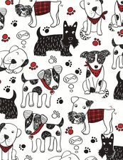 Fabric 100% Cotton Timeless Treasures Scribble Dog C4672