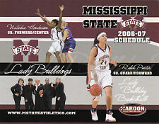 2006-07 MISSISSIPPI STATE LADY BULLDOGS BASKETBALL POCKET SCHEDULE - UNFOLDED
