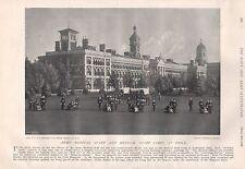 1897 Antico STAMPA MILITARE-VICTORIA Hospital, personale medico & Corps a trapano