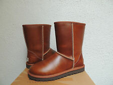 UGG CLASSIC CHESTNUT WATER-PROOF LEATHER/ SHEEPSKIN BOOTS, US 8/ EUR 39 ~ NIB