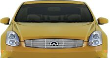 FITS INFINITI G35 2DR COUPE 03-07 STAINLESS CHROME BILLET GRILLE OVERLAY TOP