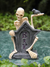 Miniature Dollhouse FAIRY GARDEN Accessories ~ Mr. RIP Halloween Skeleton Statue