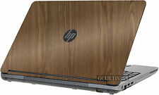 WOOD Vinyl Lid Skin Cover Decal fits HP ProBook 655 G1 Laptop