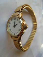 SEKONDA LADIES EXPANDING BRACELET WATCH COCKTAIL WRISTWATCH EASY READ GOLDEN