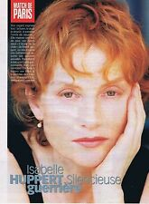 COUPURE DE PRESSE CLIPPING 1998 ISABELLE HUPPERT  (3 pages)