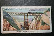 Staircase Viaduct  South Island   New Zealand   1930's Vintage Card