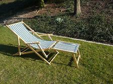 Liegestuhl Liege Strandstuhl mit Armlehnen Revival Gartenliege 3-teilig
