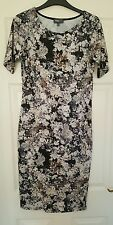 Ladies Apricot size 12 midi dress floral short sleeve