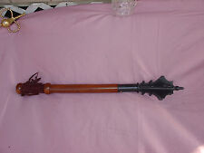 Deepeeka Knights Medieval Flanged Mace Middle Ages Weapon wood Virge Club