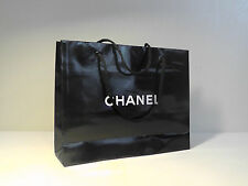 CHANEL Black Paper Gift Bag. Size 10''W x 7.5''H x 2 3/4''D*****NEW*****