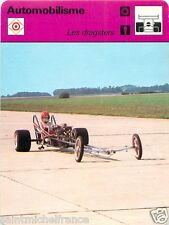 FICHE CARD : 2. Les Dragsters   Drag racing   RACE CAR 70s