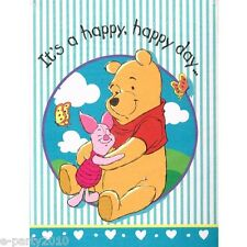 WINNIE THE POOH AND PIGLET INVITATIONS (8) ~ Birthday Party Supplies Stationery