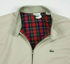 Vintage IZOD Lacoste Mens Khaki Vented Windbreaker Full Zip Jacket 2XB XXL BIG