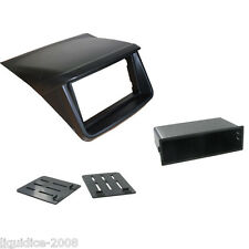 CT23MT12 MITSUBISHI STRADA 2014 ONWARDS BLACK DOUBLE DIN FASCIA ADAPTER PANEL