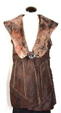 Save The Queen Faux Fur Sleeveless Vest Jacket Coat Rich Brown XXL