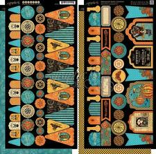 "GRAPHIC 45 ""STEAMPUNK SPELLS""  BANNERS    HALLOWEEN RETIRED   SCRAPJACK'S PLACE"
