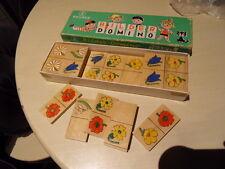 Vintage bilder domino KELLNER 60.70's ! ancien jeu de Domino bois