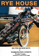 Speedway Programme>RYE HOUSE ROCKETS v WORKINGTON COMETS May 2003