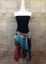 Cache Strapless Maxi Dress size 2 XS Paisley Skirt Stretch 1963