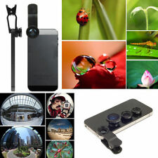 180 Degrees Fish Eye Wide Angle Micro Camera Lens Kit 3-in-1 Black For iPhone 5