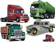 Big Trucks Great for Kids Furniture and Toys Waterslide Decals # 38