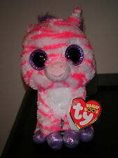 """Ty Beanie Boos ~ ZAZZY the 6"""" Zebra Claire's Exclusive ~ MINT with MINT TAGS"""