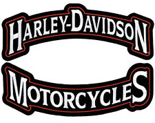 HARLEY DAVIDSON Harley Rockers Top Bottom rocker 12 INCH PATCH