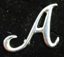Sterling Silver (925) Large Letter A Brooch by Creola