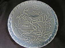 Faience de St Amand 1970 Collectors Plate 2 Birds, Green