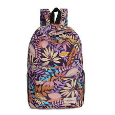 Womens Girls Vintage Canvas Backpack Rucksack School Travel Hiking Camping Bags